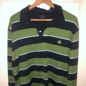 346 BROOKS BROTHERS long sleeve polo , L